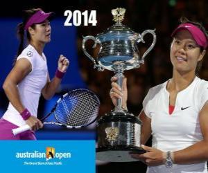 Na Li champion Open Australia 2014 puzzle