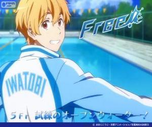 Nagisa with the tracksuit of Iwatobi Swimming Club puzzle
