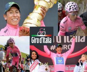 Nairo Quintana, Giro 2014 puzzle