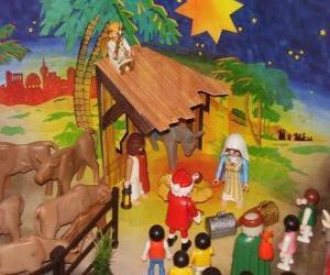 Nativity scene Playmobil puzzle