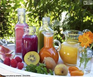 Natural fruit juices puzzle
