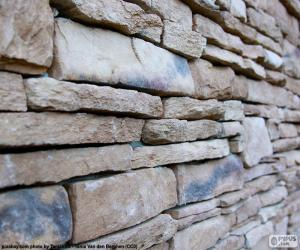Natural stone wall puzzle