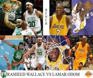 NBA Finals 2009-10, Bench, Rasheed Wallace (Celtics) vs Lamar Odom (Lakers) puzzle