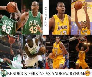 NBA Finals 2009-10, Center, Kendrick Perkins (Celtics) vs Andrew Bynum (Lakers) puzzle