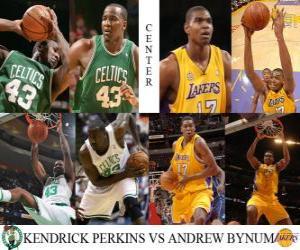 NBA Finals 2009-10, Center, Kendrick Perkins (Celtics) vs Andrew Bynum (Lakers) puzzle