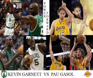 NBA Finals 2009-10, Power Forward, Kevin Garnett (Celtics) vs Pau Gasol (Lakers) puzzle