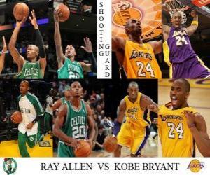 NBA Finals 2009-10, Shooting Guard, Ray Allen (Celtics) vs Kobe Bryant (Lakers) puzzle