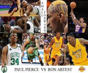 NBA Finals 2009-10, Small Forward, Paul Pierce (Celtics) vs Ron Artest (Lakers) puzzle