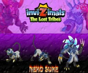 Neko Suke, latest evolution. Invizimals The Lost Tribes. This stealthy invizimal is a master of deception puzzle