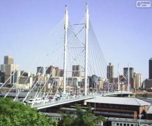 Nelson Mandela bridge, Johannesburg, South Africa puzzle