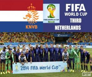 Netherlands 3rd classified of the Brazil 2014 Football World Cup puzzle