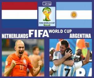 Netherlands - Argentina, semi-finals, Brazil 2014 puzzle