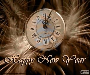 New year clock puzzle