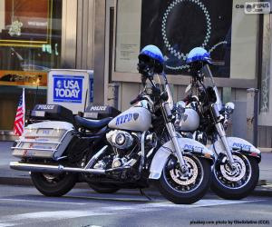 New York Police Motorcycles puzzle