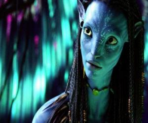 Neytiri, princess of Omaticaya clan puzzle