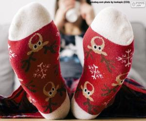 Nice Christmas socks puzzle