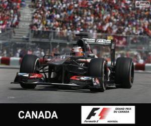 Nico Hülkenberg - Sauber - Circuit Gilles Villeneuve, Montreal, 2013 puzzle