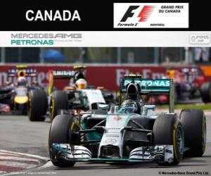 Nico Rosberg - Mercedes - Grand Prix of Canada 2014, 2º classified puzzle