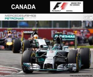 Nico Rosberg - Mercedes - Grand Prix of Canada 2014, 2º classified puzzle