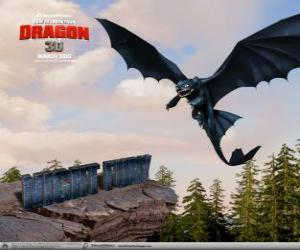 Night Fury are small dragons that can fly higher, faster and farther than any other dragon puzzle