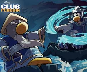 Ninja penguins, characters of the famous Club Penguin puzzle