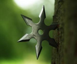 Ninja star - shuriken- puzzle