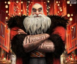 North, better known as Santa Claus. Character from Rise of the Guardians puzzle