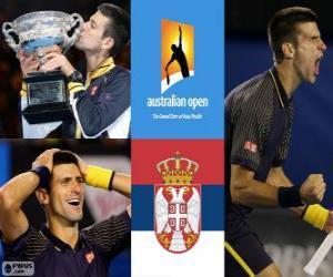 Novak Djokovic 2013 Australian Open Champion puzzle