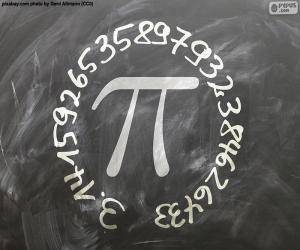 Number π (pi) puzzle