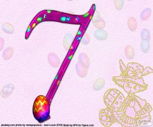 Number seven of Easter puzzle