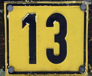 Number thirteen puzzle