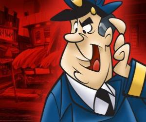 Officer Dibble, the policeman who looks after the alley of Top Cat and his gang puzzle