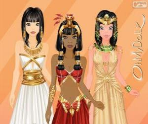 Oh My Dollz Egyptian puzzle