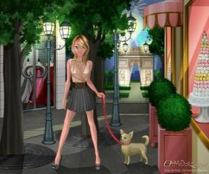 Oh My Dollz, walking the dog puzzle