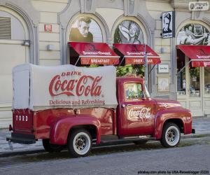 Old Coca-Cola truck puzzle