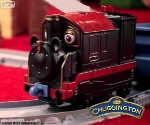 Old Pete, the steam locomotive is the oldest chugger in Chuggington puzzle