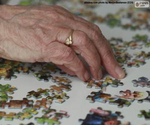 Older person, puzzle puzzle