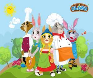 Oloko main characters puzzle