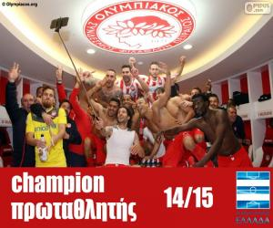Olympiacos FC champion 2014-2015 puzzle