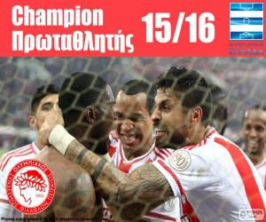 Olympiacos FC champion 2015-2016 puzzle