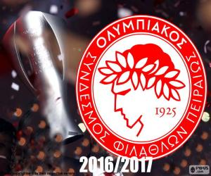 Olympiacos FC champion 2016-2017 puzzle