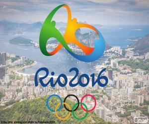 Olympic Games Rio 2016 logo puzzle