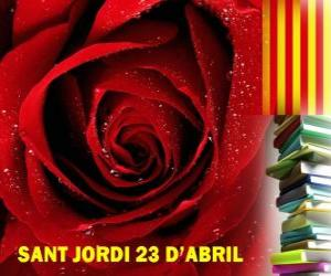 On 23 April, St George's Day is celebrated in Catalonia the Festival of the Book and the Rose puzzle