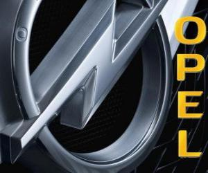 Opel logo, German car brand puzzle