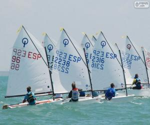 Optimist regatta puzzle