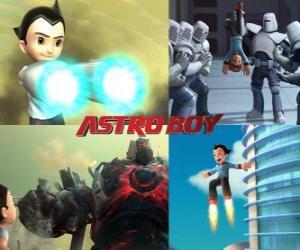 Or Astro Boy AstroBoy, fighting his enemies puzzle