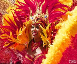 Orange Carnival dress puzzle