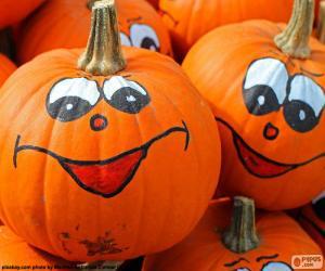 Painted pumpkins puzzle