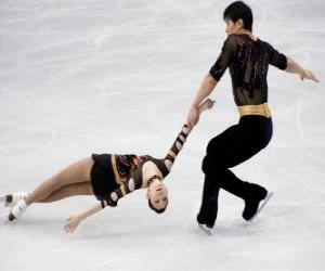 Pair skating is a discipline of the figure skating puzzle