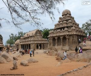 Pancha Rathas, India puzzle